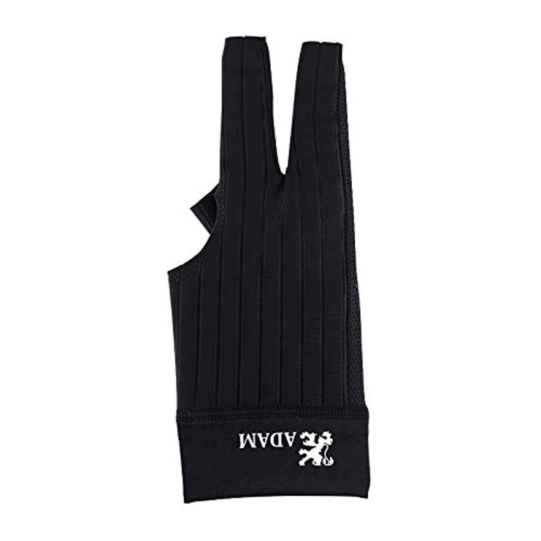 リーチスパイラル不名誉なビリヤードグローブ Adam 【アダム】 グローブ ブラック 右利き用 M (Glove Black RH M)