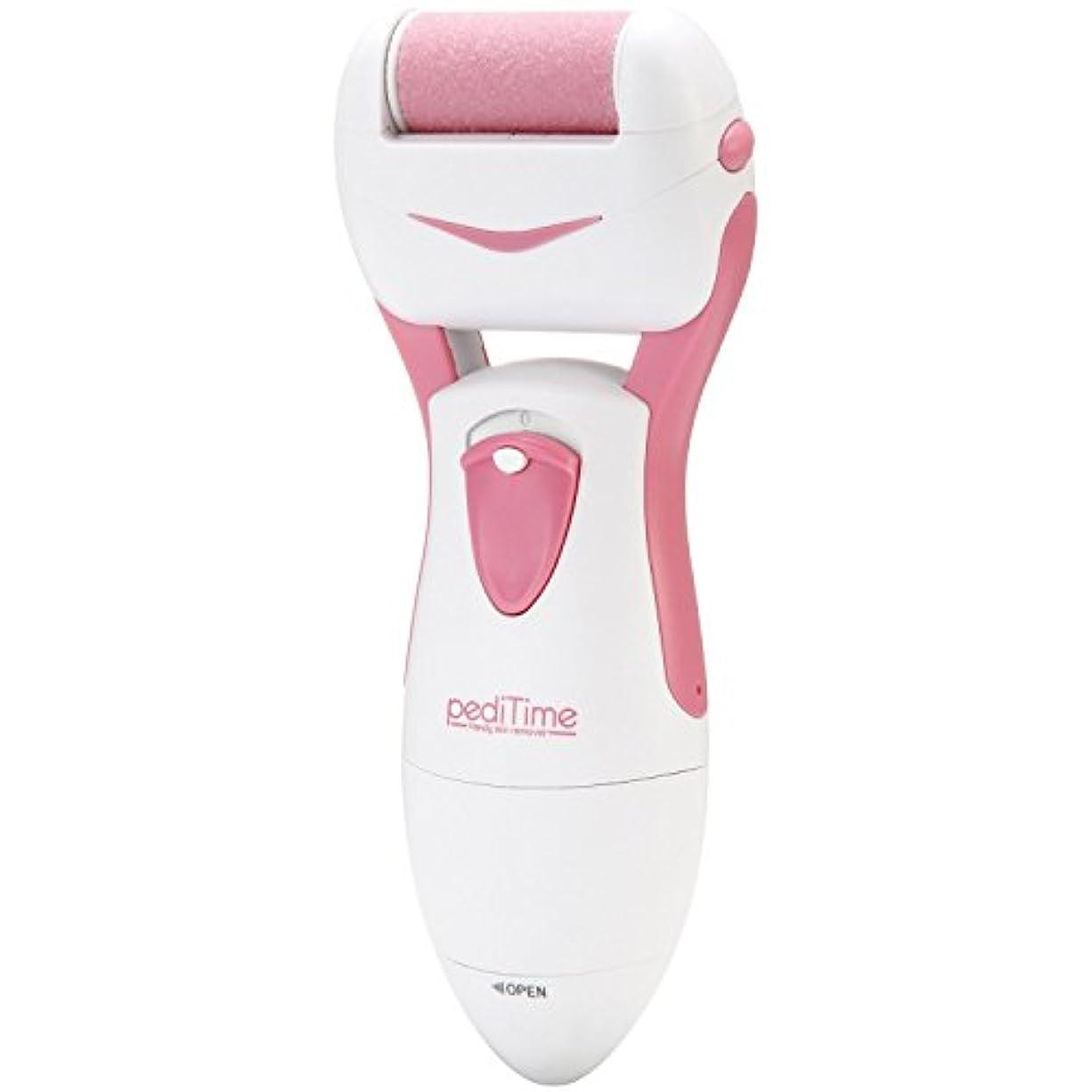 母性動物ヘッドレス角質除去 かかと 足裏 電動角質リムーバー ペディタイム pediTime ピンク