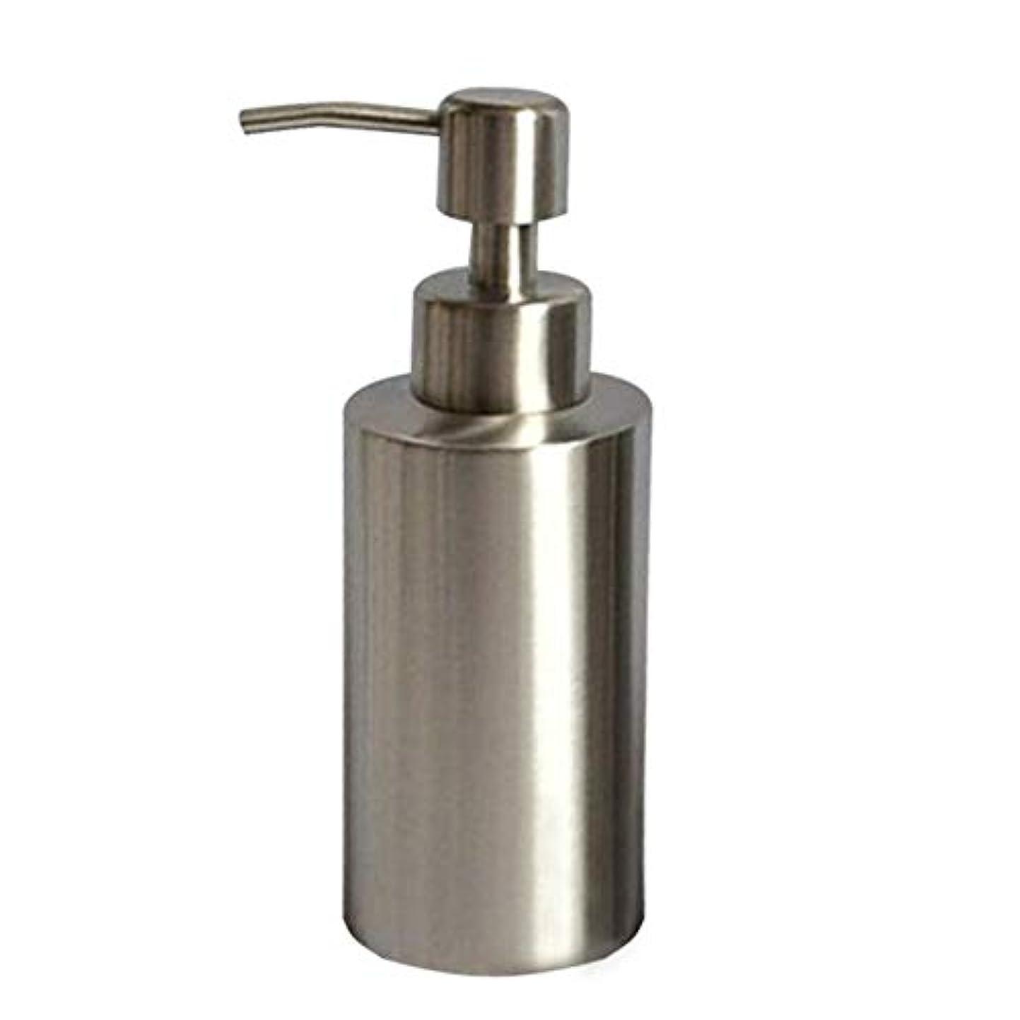 カリキュラム典型的などこにも250ML/350ml/550mlのステンレス鋼ハンドソープボトル ハンドソープ容器 キッチン用びん(高さ15.5cm、直径5.5cm)
