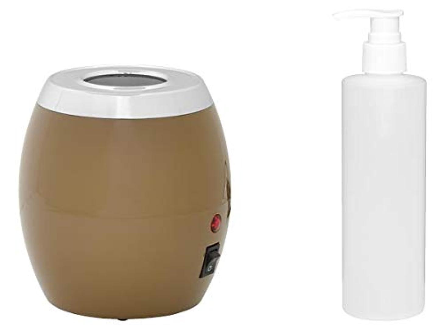 小石節約するアスリートオイルヒーター ボトル付 オイルウォーマー マッサージオイル ボディオイル ヒーター ウォーマー