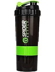 プロテインシェイカー 500ml 多機能 シェーカーボトル (グリーン)