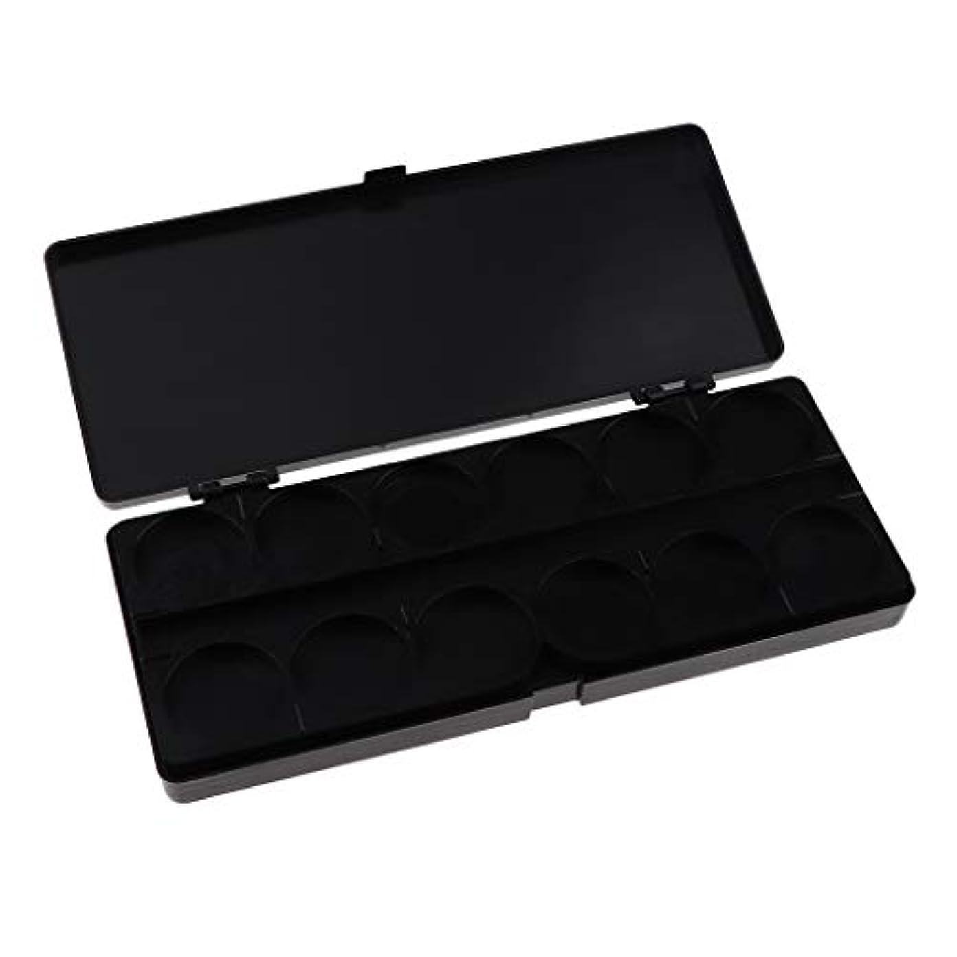 神聖クレジット差し引く顔料パレット ネイルアートペイントパレット プラスチック製 全3色 - ブラック
