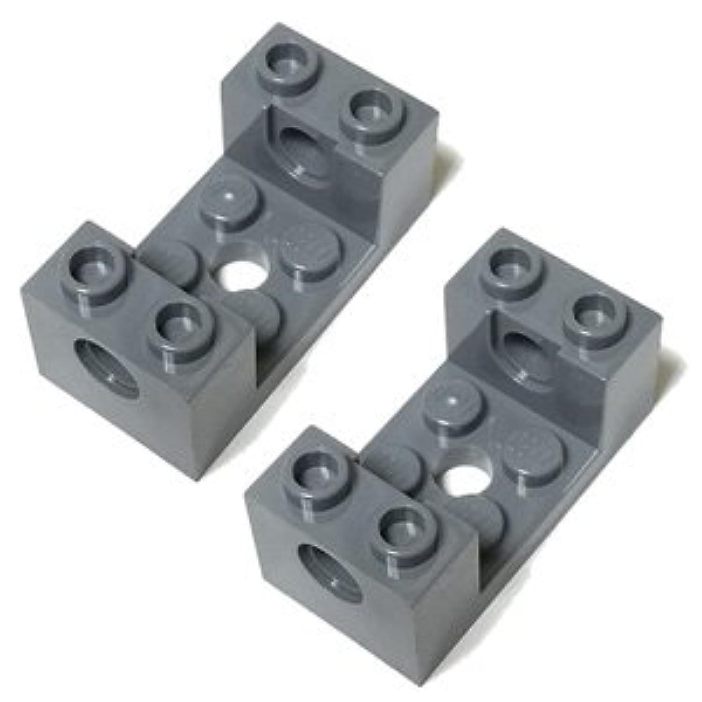 LEGOブロック?純正パーツ<テクニック?ブロック>2 x 4 x 1 1/3 with Holes and 2 x 2 Cutout (2個, Dark Bluish Gray) [並行輸入品]