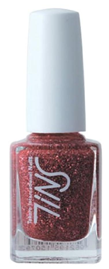効率炎上役に立たないTINS カラー010(the ruby)  11ml カラーポリッシュ