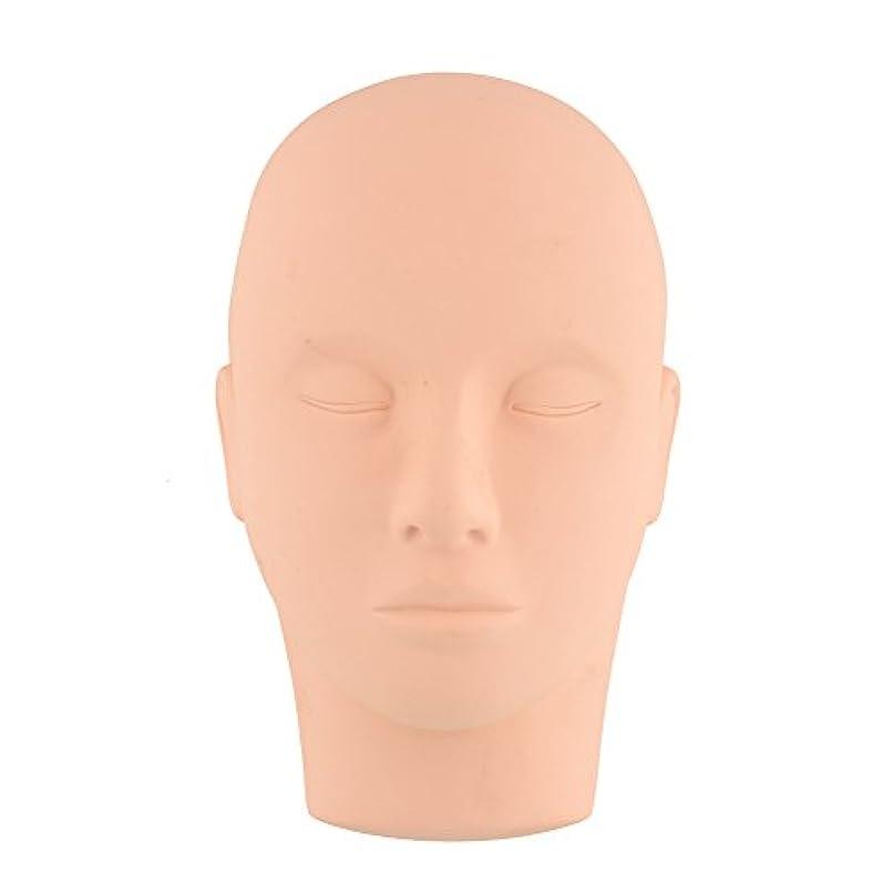 鼻カブ変装Kicode ビューティートレーニング マネキンは練習をメイクアップ フラットヘッド瞳の偽まつげ マネキンマネキンヘッド