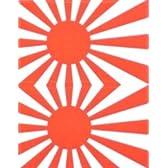 日章旗・軍艦旗(日本海軍国旗)★フェイスシール【応援(サポーター)】/1シート2枚組