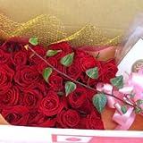 さわやかで豪華なバラ風呂セット 赤系のバラ スタンダート 2ダース(24輪)セット【生花】【お祝い】【記念日】【誕生日】【フラワーギフト】【バラ】