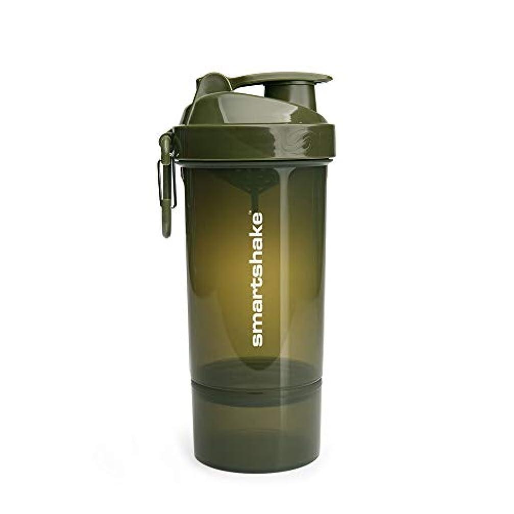 器用消すマグSmartShake(スマートシェイク) SmartShake ORIGINAL2GO ONE 800ml Army Green 多機能プロテインシェイカー アーミーグリーン 800ml大容量 コンテナ1段タイプ