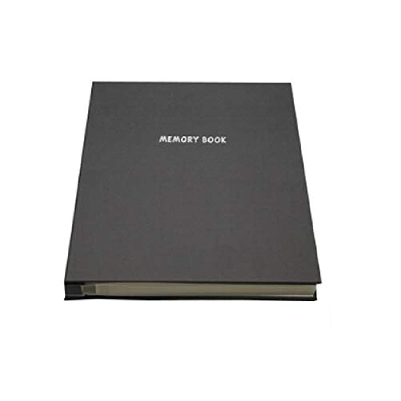 エミュレートするあなたは換気するHKXR アルバムアルバムThin Family Album粘着アルバムコレクションMemory Collection Book 18インチ (Color : Black)