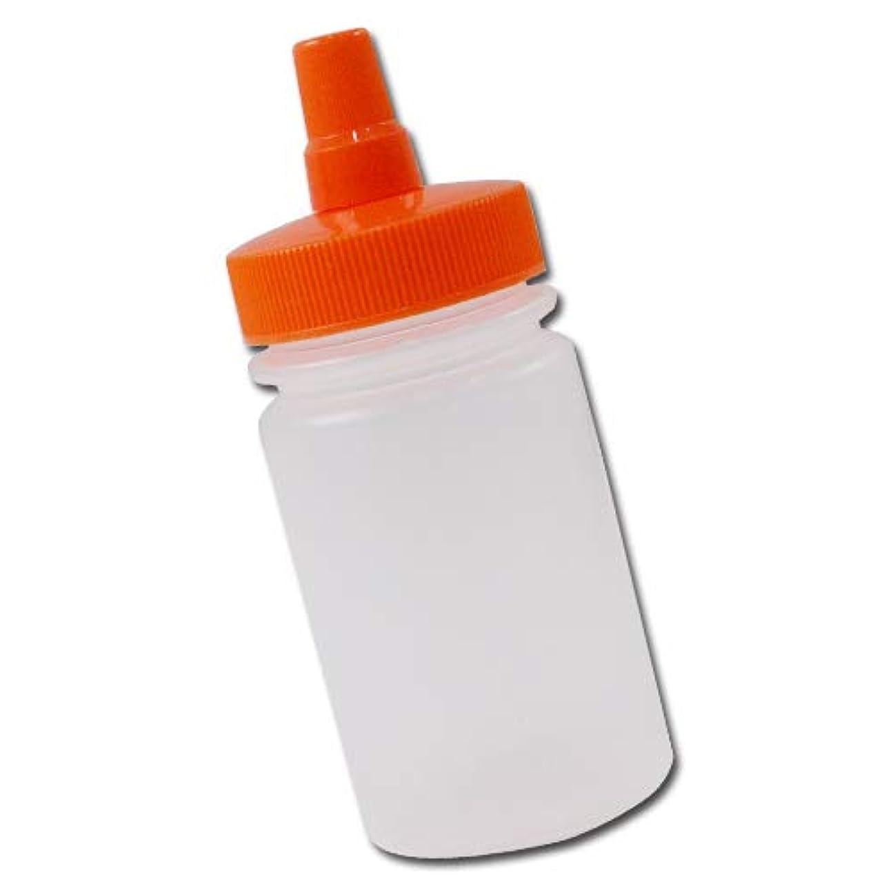 抵当品種乞食はちみつ容器100ml(オレンジキャップ)│ストレート型 業務用ローションや調味料の小分けに詰め替え用ハチミツ容器(蜂蜜容器)はちみつボトル