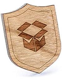 ボックスラペルピン、木製ピンとタイタック|素朴な、ミニマルGroomsmenギフト、ウェディングアクセサリー