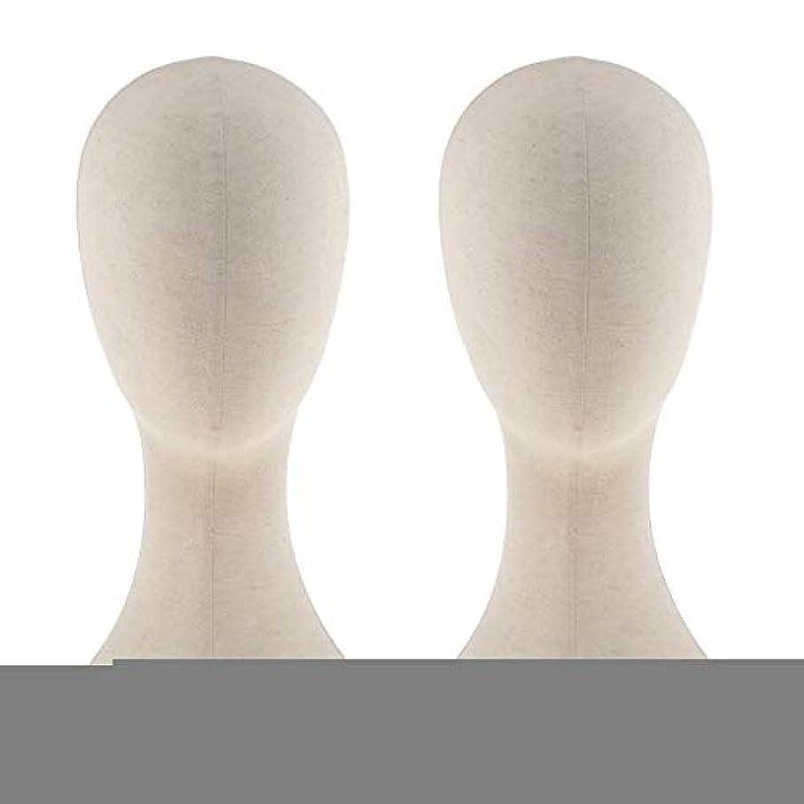 温度計協会アンデス山脈T TOOYFUL キャンバス マネキン ヘッド トルソー 頭 カット練習 頭部 女性 ウィッグマネキン ウィッグスタンド2個