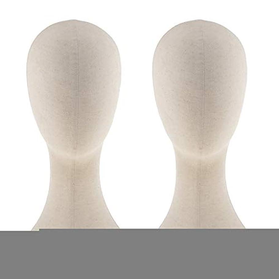スタジアムトレーダー結晶T TOOYFUL キャンバス マネキン ヘッド トルソー 頭 カット練習 頭部 女性 ウィッグマネキン ウィッグスタンド2個