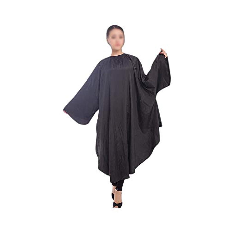 抑制過敏なドールLucy Day 理髪店の防水毛の切断の岬のための美容院のエプロンの毛布 (色 : 黒)