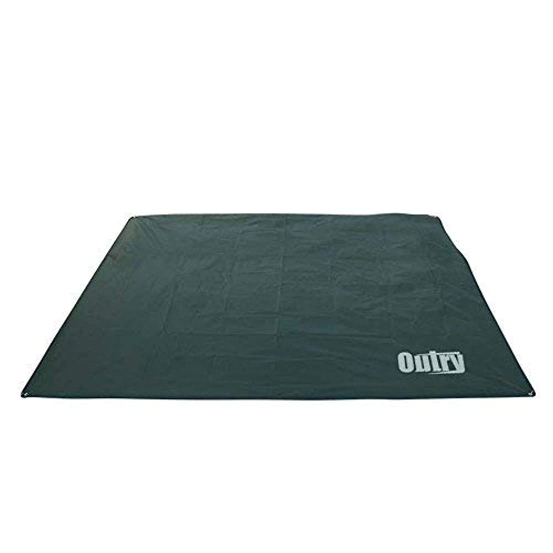 帳面スタンド承認するOutry Waterproof Multi-Purpose Tarp - Tent Stakes Included - Green - L - 7.9ft x 7.2ft / 2.4m x 2.2m, Lightweight Camping Picnic Ground Sheet Cover Cloth Mat Footprint Rain Fly Shelter Tarpaulin [並行輸入品]