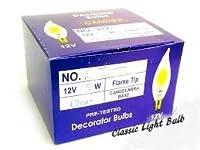 HC照明–12V 7W低電圧シャンデリア電球炎チップe12クリアFlameチップ白熱ランプ燭台ベース( 25/パック 7107023371605