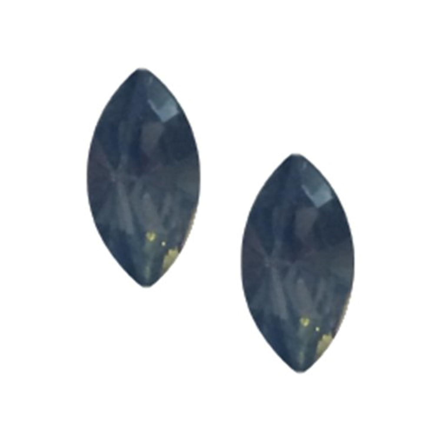 どこか経験コードレスPOSH ART ネイルパーツ馬眼型 3*6mm 10P ブルーオパール