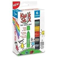 The Pencil Grip TPG601 Kwik Stix Tempera Paint Primary Pencil Grip, Pack of 6