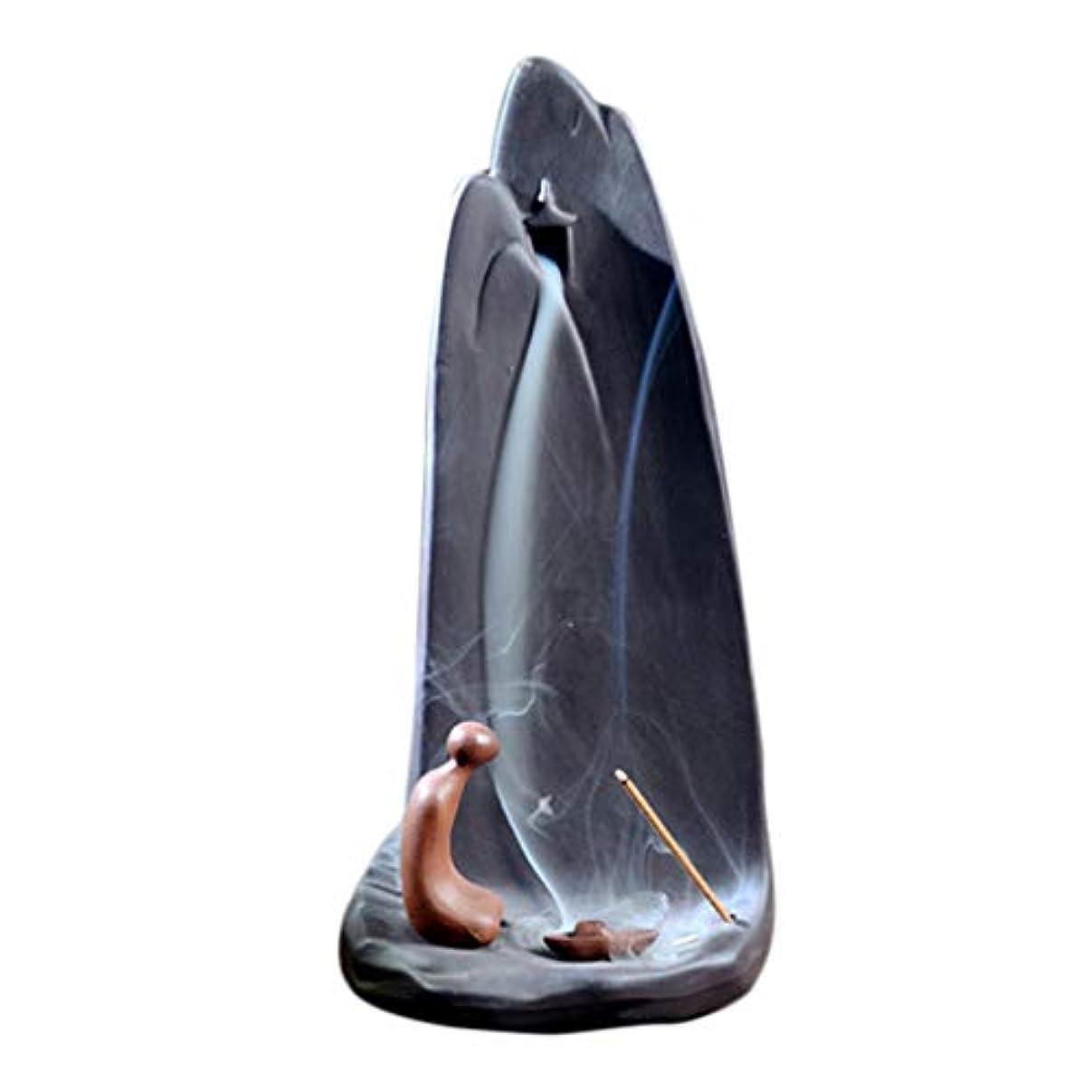 ガスオリエント深いホームアロマバーナー 実用的なブティッククリエイティブ山香バーナー香炉セラミック逆流香コーンスティックホルダー仏教寺院 芳香器アロマバーナー (Color : A)