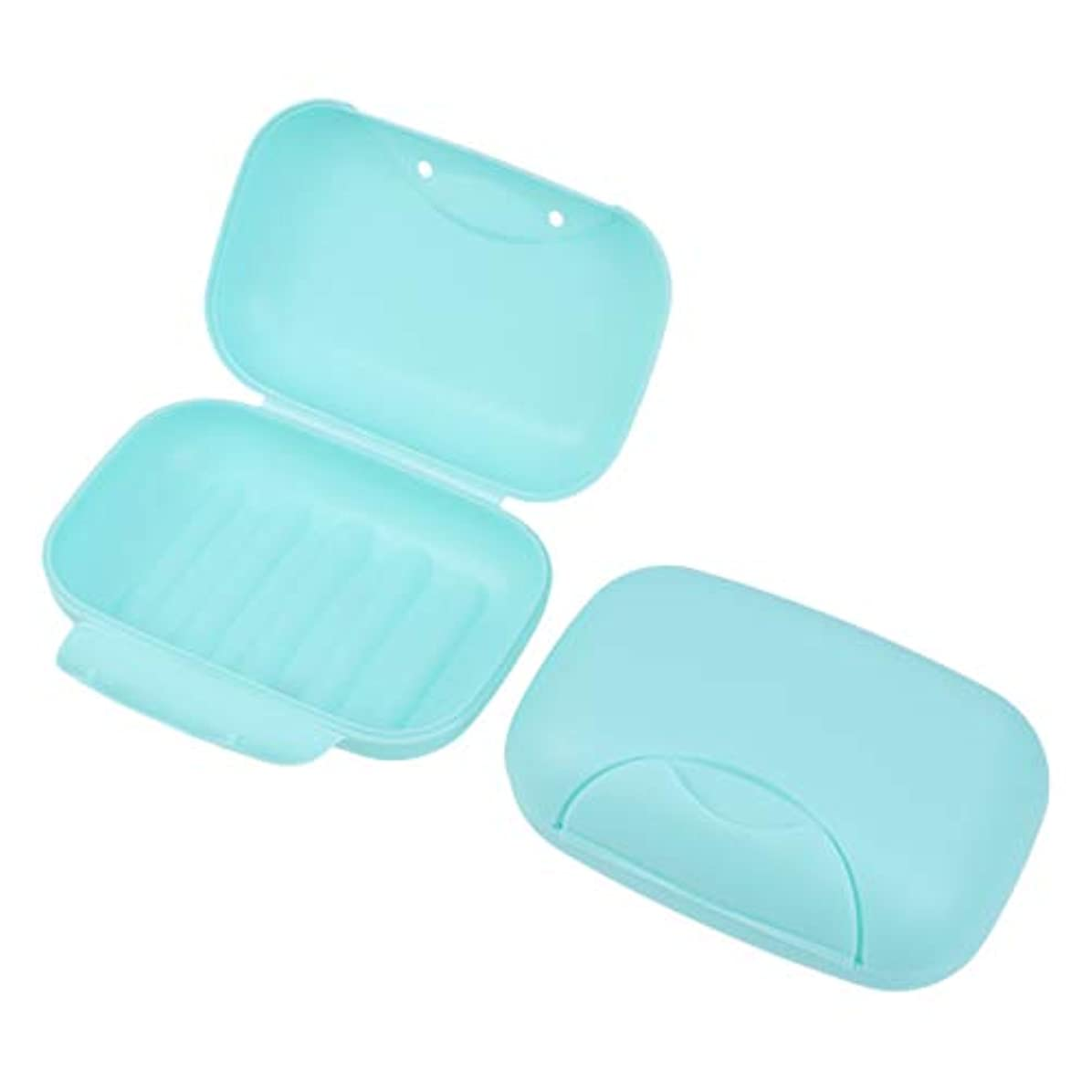 今後伝えるによるとHealifty 旅行用ソープボックス防水石鹸皿ソープホルダー2個(青)