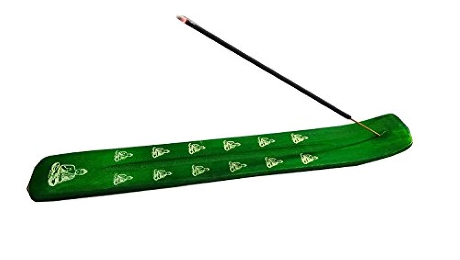 本部買う住むIncense Burner - Traditional Incense Holder colour (Green)