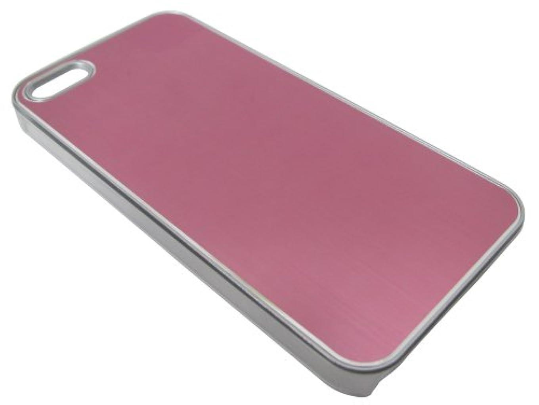 塩うつジムエアージェイ iphone5/5s専用 メタルパネルケース ライトピンク AC-P5-MT LP