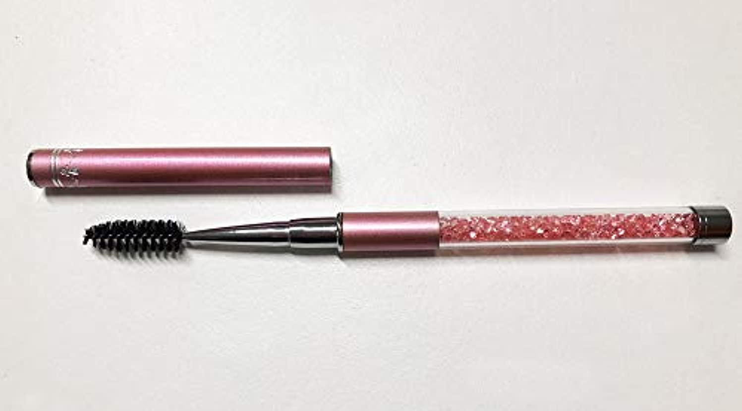 生デンプシー結晶ジュエリー アイラッシュブラシ ピンク メイクブラシ スクリューブラシ マツエク まつ毛エクステ つけまつ毛 まつげ ブラシ アイラッシュ