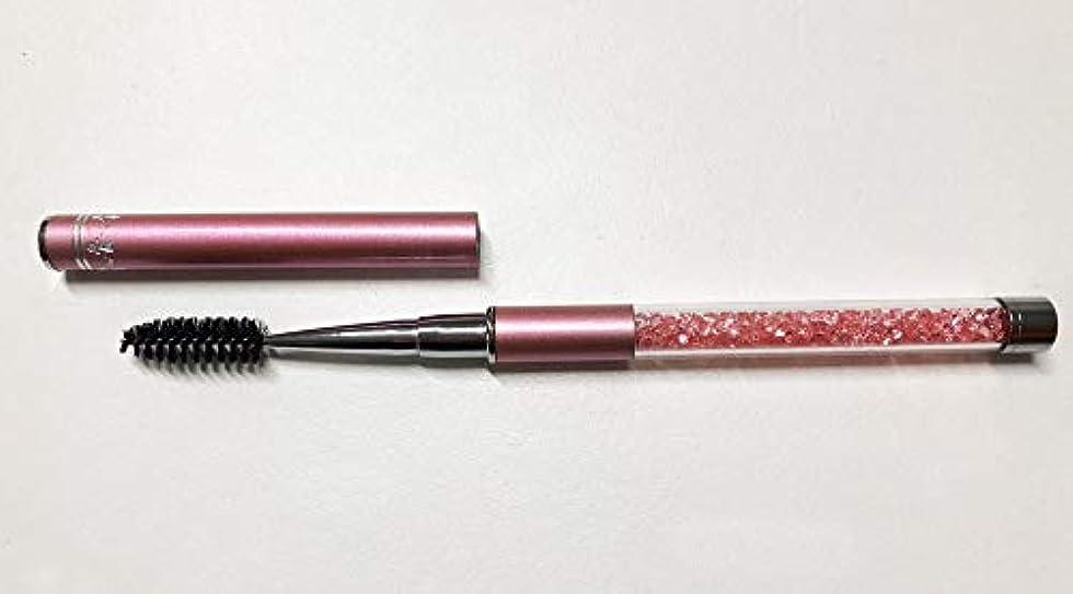 自動構築する消化ジュエリー アイラッシュブラシ ピンク メイクブラシ スクリューブラシ マツエク まつ毛エクステ つけまつ毛 まつげ ブラシ アイラッシュ
