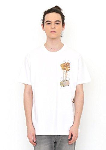 (グラニフ) graniph コラボレーション Tシャツ トースター (トムとジェリー) (ホワイト) L