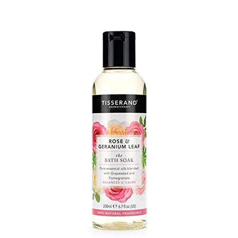 記憶イチゴ反応する[Tisserand ] ティスランドローズ&ゼラニウムの葉のお風呂は、200ミリリットルを浸します - Tisserand Rose & Geranium Leaf Bath Soak 200ml [並行輸入品]