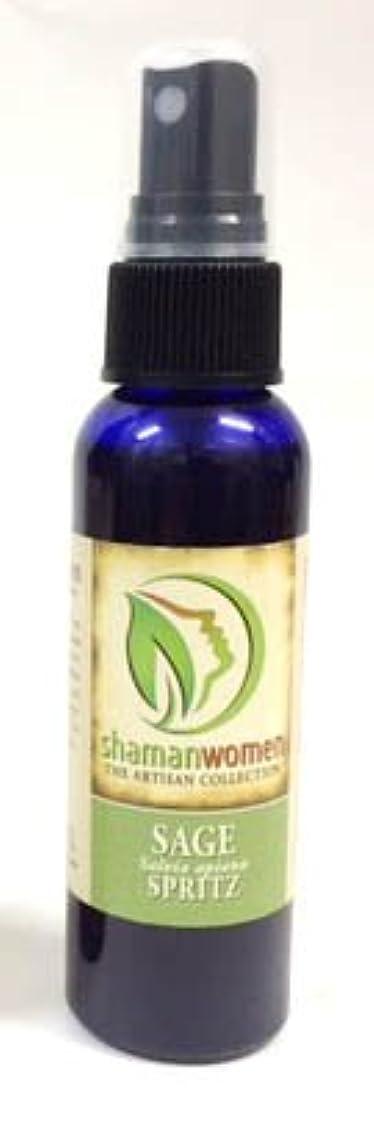 慢頭痛透過性SAGE SPRITZ ホワイトセージ 聖なる樹 59ml 100% PURE OIL オーガニック エッセンシャルオイル スプレー