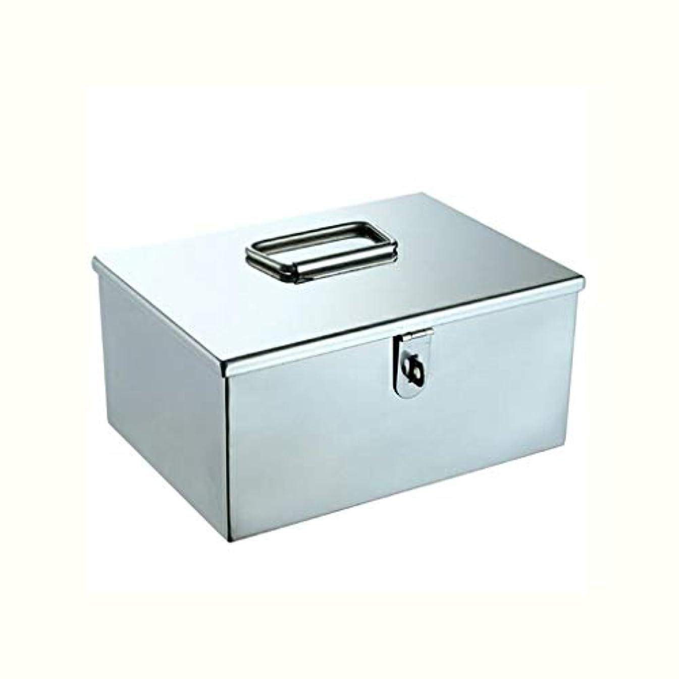 無許可健康従事する金属薬箱ポータブル救急箱医療箱多機能薬箱収納ボックス部品箱 GBYGDQ (Size : 21×15×10.2cm)