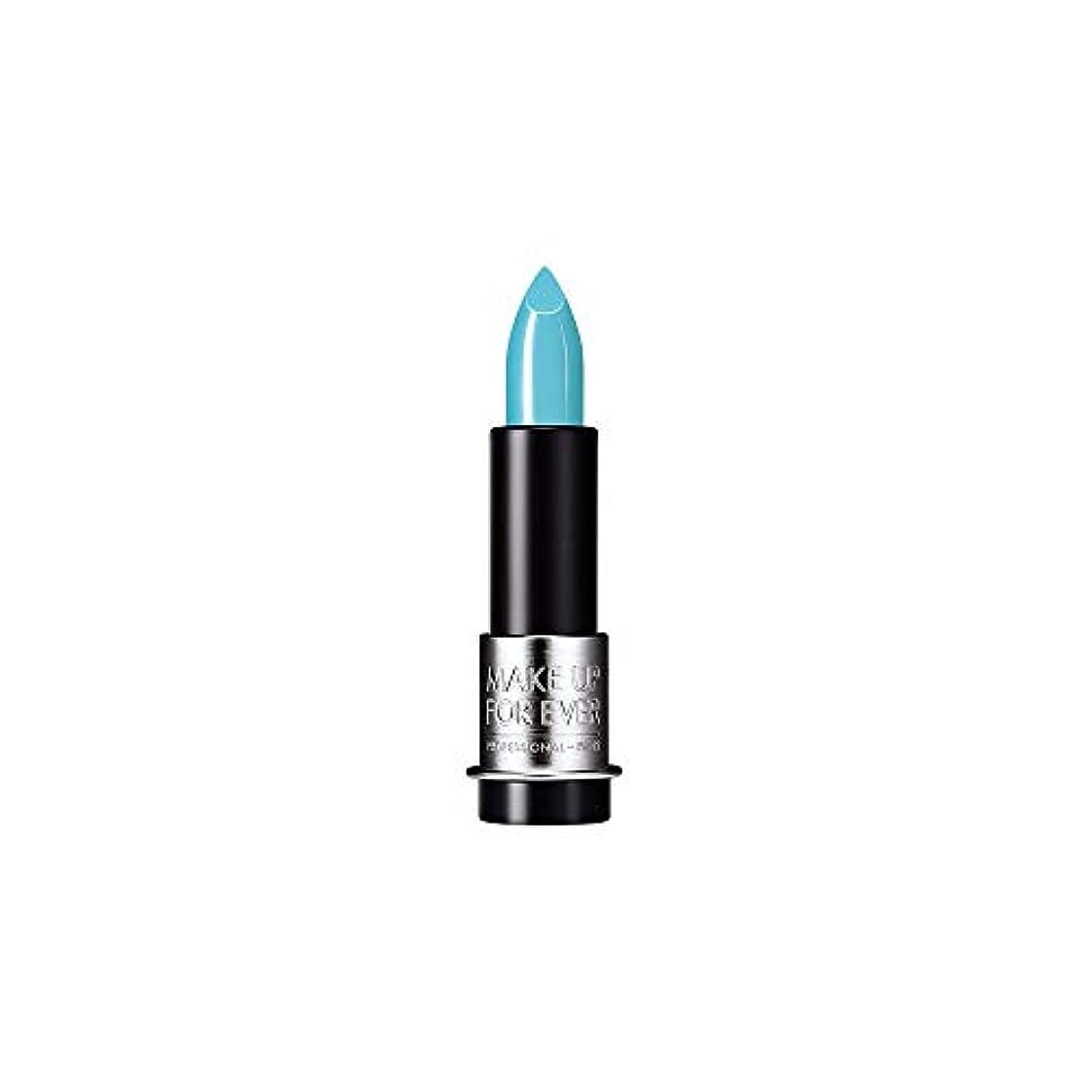 正直遺伝的カメラ[MAKE UP FOR EVER] これまでアーティストルージュクリーム口紅3.5グラムのC602を補う - ターコイズブルー - MAKE UP FOR EVER Artist Rouge Creme Lipstick...