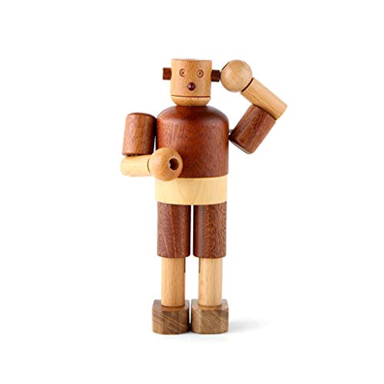 おかしいウッドロボット木製の睡眠ぬいぐるみのおもちゃ ( Color : Wooden , Size : Robot )