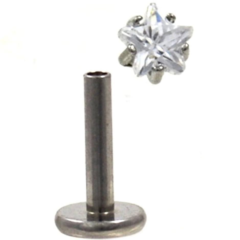 謙虚チーター高齢者星型クリアCZ Gemトップ鋼ラブレットモンローピアススタッド16ゲージ