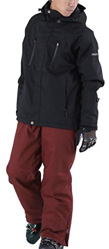 PONTAPES(ポンタぺス) スキー ウェア メンズ レディース 上下セット 全13色 6サイズ XS-XXL 耐水圧15,000mm...