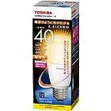 Amazon.co.jp東芝ライテック LED電球 一般電球形 T形 全方向タイプ 断熱材施工器具対応 40W 電球色 LDT6L-G/S/40W 口金直径26mm