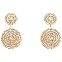 Colette Hayman - Diamante Double Round Drop Earrings