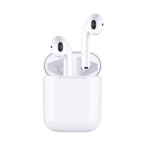Bluetooth 4.2 ステレオイヤフォン新型TWS完全ワイヤレスイヤホン iPhone Android対応 ヘッドホン 左右分離型 片耳&両耳対応 ワンボタン設計 通話可 高音質 低音重視 Apple AirPods タイプ …
