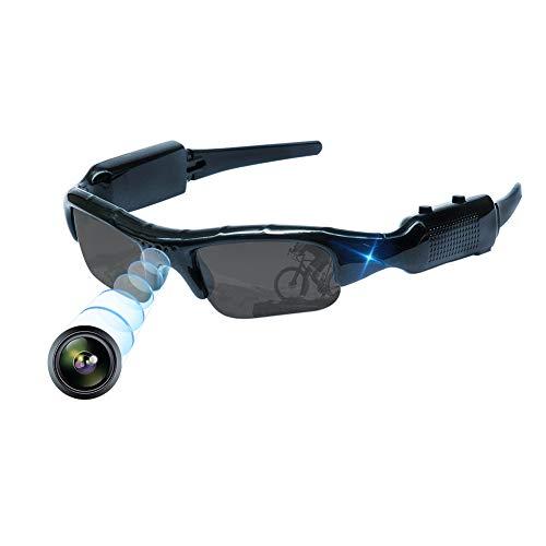 超小型カメラ カメラメガネ 無孔サングラス カメラ 1080Pメガネ型隠しカメラビデオカメラ 盗撮カメラ小型 付属日本語説明書付き (M06)