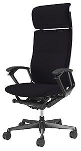 オカムラ オフィスチェア デューク エクストラハイバック ブラックフレーム アムンゼン織 ブラック  CZ57ZR-FJT1