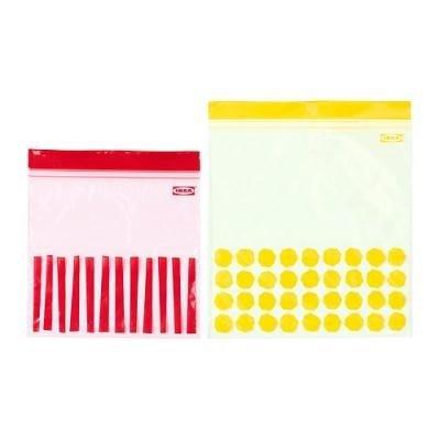 IKEA イケア ISTADプラスチック袋(50 ピース) レッド and イエロー