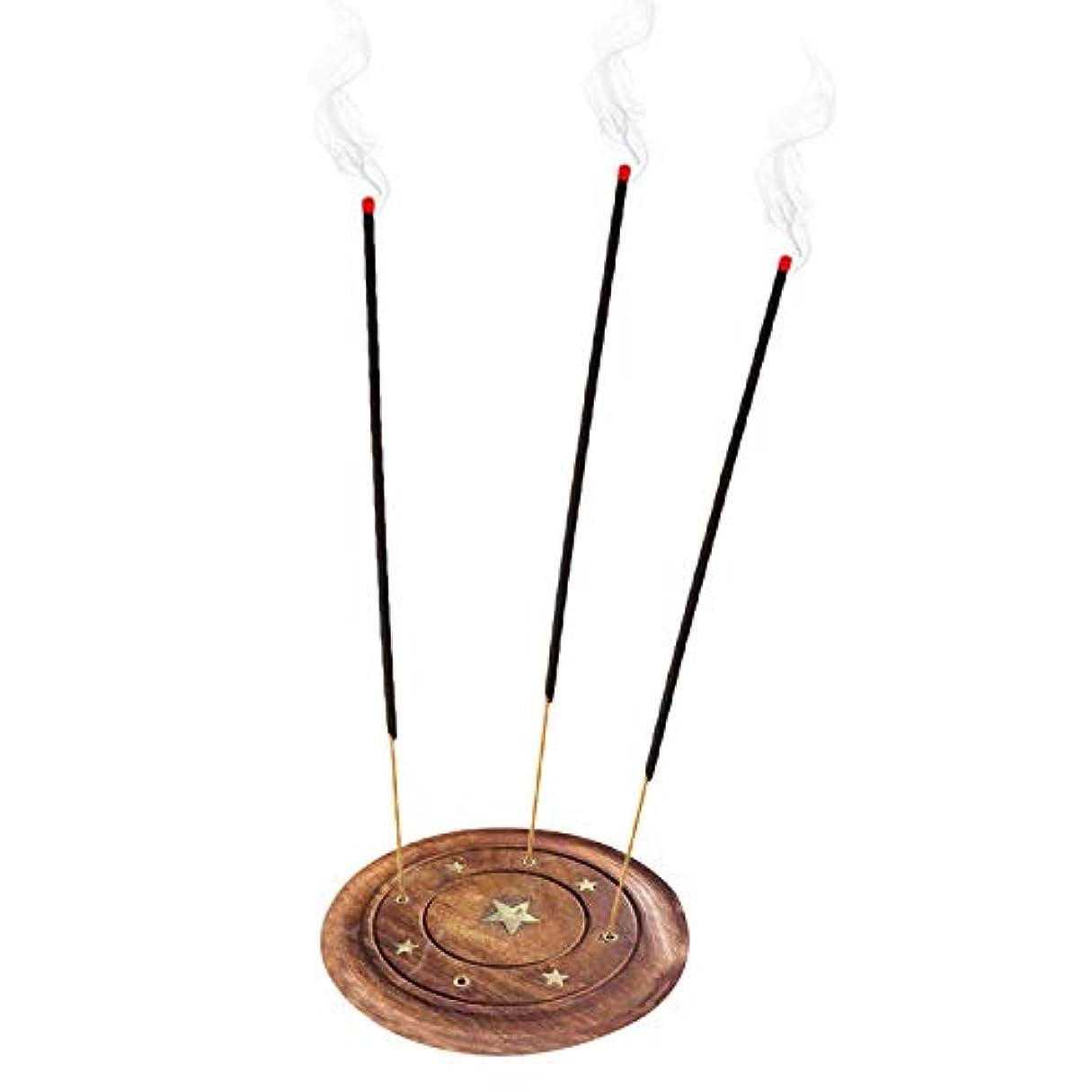 言い聞かせるシンプルなを通してWooden Incense Saucer Plate Holder star Design