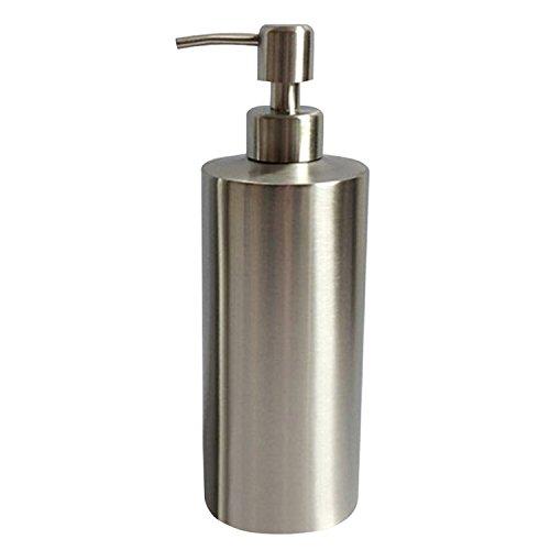 Wholehot ソープ ディスペンサー ステンレス製 シャンプー ボトルディスペンサー 手洗いボトル ディスペンサー シャンプー 容器 液体石鹸ディスペンサー 手動プッシュタイプ フォームボトル 錆びない 耐久性 浴室 キッチン用 シルバー (550ml)