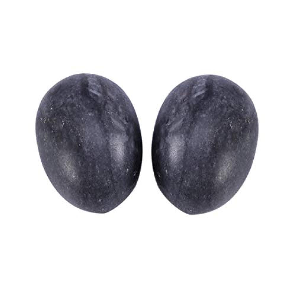 おじさんハンディキャップアクションHealifty 6PCS翡翠Yoni卵マッサージ癒しの石のケゲル運動骨盤底筋運動(黒)