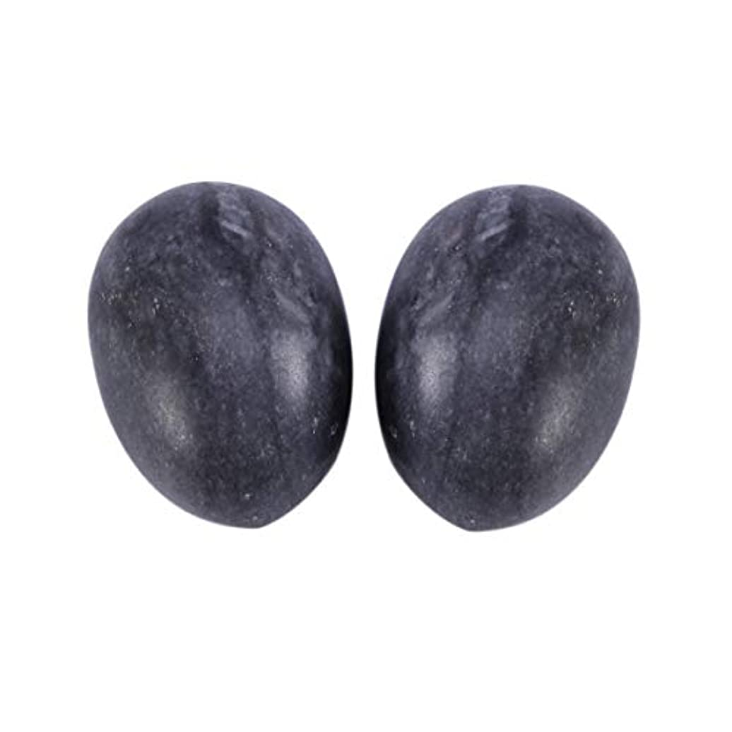 Healifty 妊娠中の女性のためのマッサージボール6個玉ヨードエッグ骨盤底筋マッサージ運動膣締め付けボールヘルスケア(ブラックブルー)