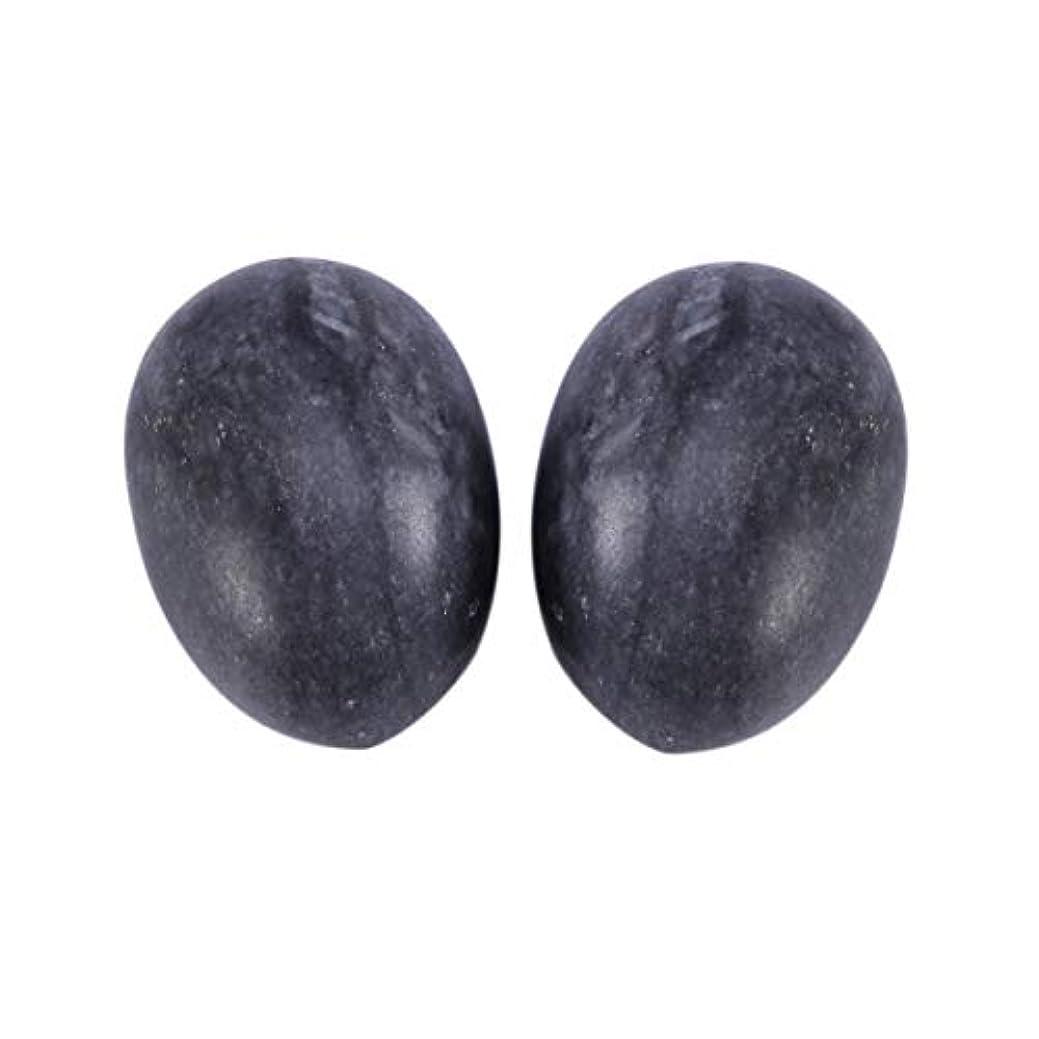嵐の運ぶペレットHealifty 6PCS翡翠Yoni卵マッサージ癒しの石のケゲル運動骨盤底筋運動(黒)