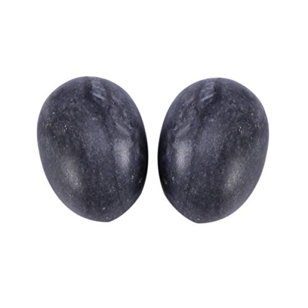 トリプルでるいろいろHealifty 6PCS翡翠Yoni卵マッサージ癒しの石のケゲル運動骨盤底筋運動(黒)