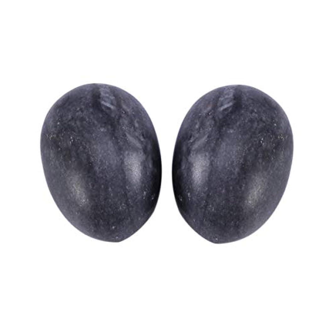 胚母性慢性的Healifty 6PCS翡翠Yoni卵マッサージ癒しの石のケゲル運動骨盤底筋運動(黒)