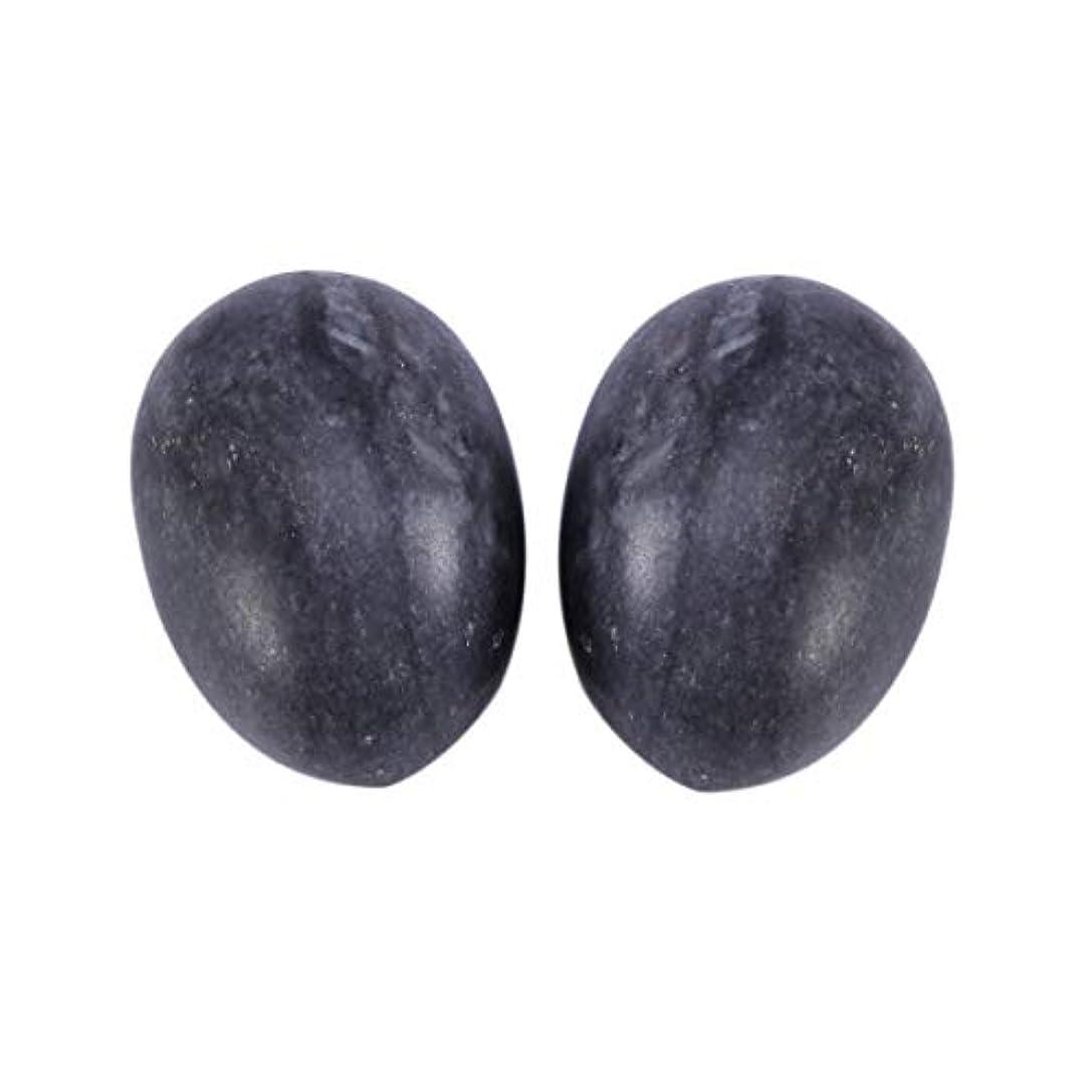偉業言い聞かせる松の木Healifty 6PCS翡翠Yoni卵マッサージ癒しの石のケゲル運動骨盤底筋運動(黒)